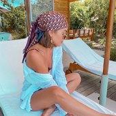 Vous aimez cette tendance ? 😍   #bandalia #foulard #inspiration #scarf #love #bandeau #carréensoie #foulardànouer #tendance2021 #instadaily #accessoires #cheveux #coiffure
